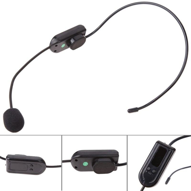 Tragbare FM Drahtlose Mikrofon Headset Megaphon Radio Mikrofon Lautsprecher Mic für Teaching Meeting Tour Guide Vortrag