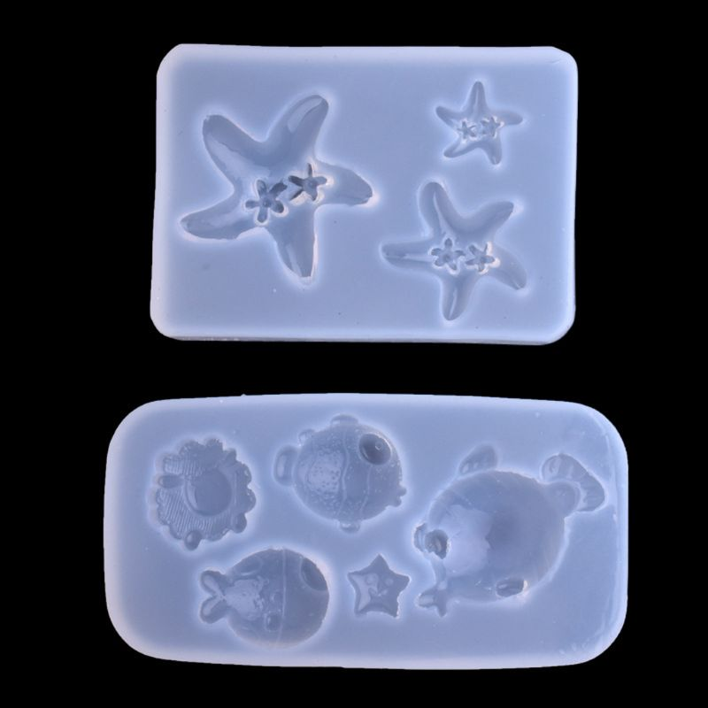 DIY epoxy resin mold Cartoon Starfish Fish Pendant Silicone Mold Resin Casting Craft Jewelry Tools in Jewelry Tools Equipments from Jewelry Accessories