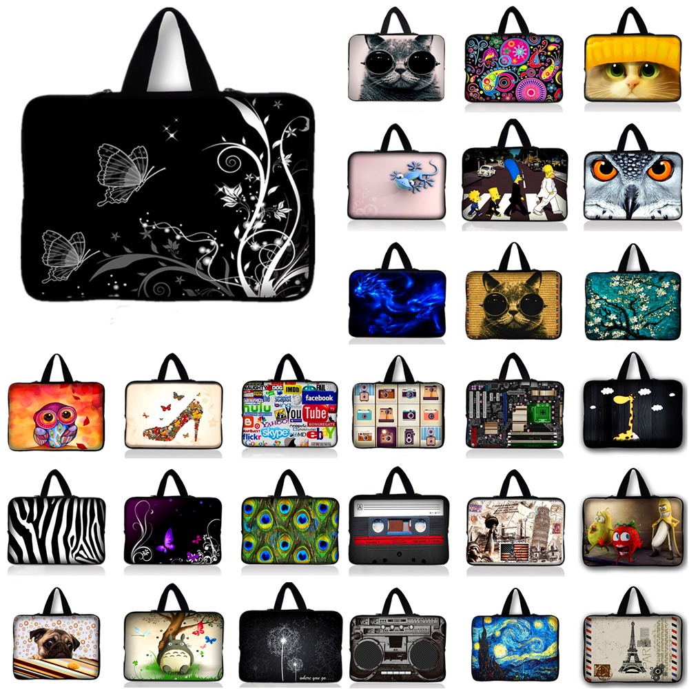 10.1 12 13 13.3 14 15.4 15.6 17 17.3 inch Soft Laptop Sleeve Case Handbags Notebook Cover Bag For Samsung Lenovo Asus Acer HP