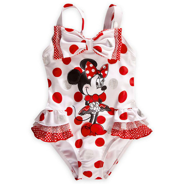 Newest Style girl sets  Cute Cartoon  mickey set Child One Piece Bikini Kids Bathing Suit girl birthday gift summer sets