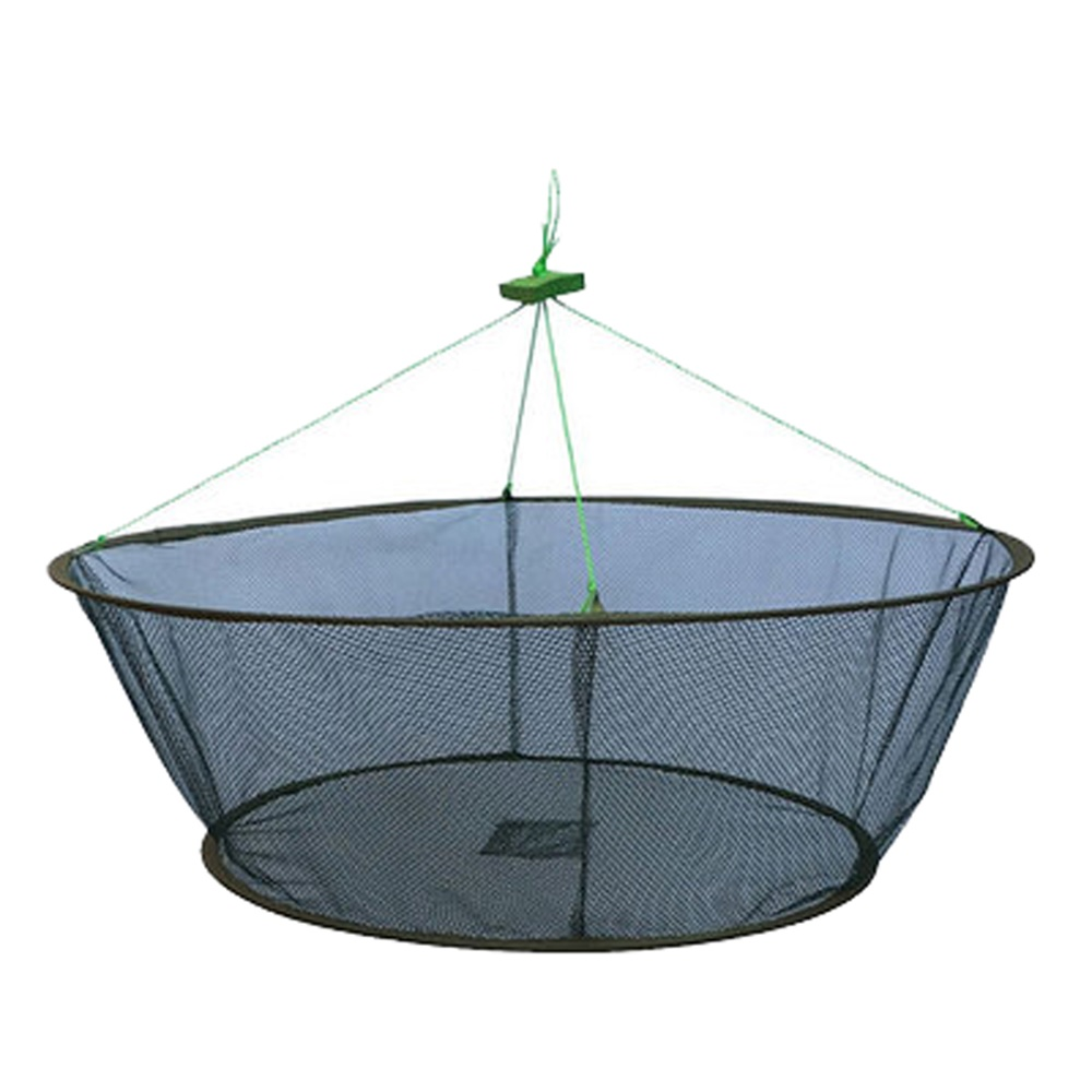 Dia 1m heights 35cm small mesh 4 6mm portable folding for Collapsible fishing net