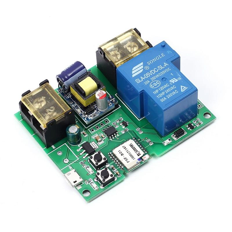 Wifi Télécommande Relais Module 220 V 30A Haute Puissance 6000 W Téléphone APP Télécommande Minuterie Interrupteur