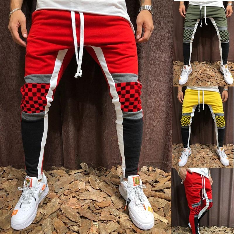 WSGYJ Men Gym Jogger Pants Harem Sweatpants Men Casual Fashion Cotton Patchwork Pants Man Trousers 2019 Hip Hop Pantolon