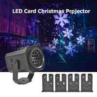 Diseño navideño LED proyector colorido giratorio KTV DJ Disco lámpara de escenario