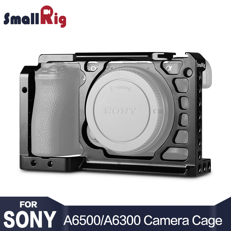 SmallRig Dslr Cámara jaula para Sony A6500/A6300 cámara de aleación de aluminio de la jaula W/Arca suizo QR placa (versión de actualización) -1889