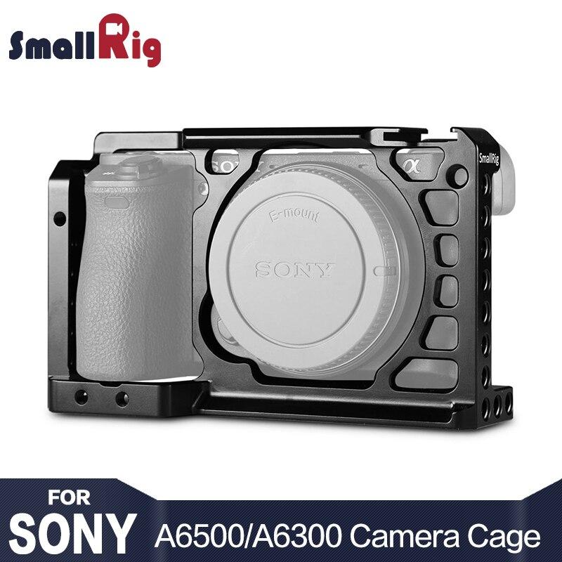 SmallRig Dslr Rig Cage pour Sony A6500 En Aluminium Alliage Cage Avec L'otan Ferroviaire Arca Suisse QR plaque (mise à niveau version) -1889