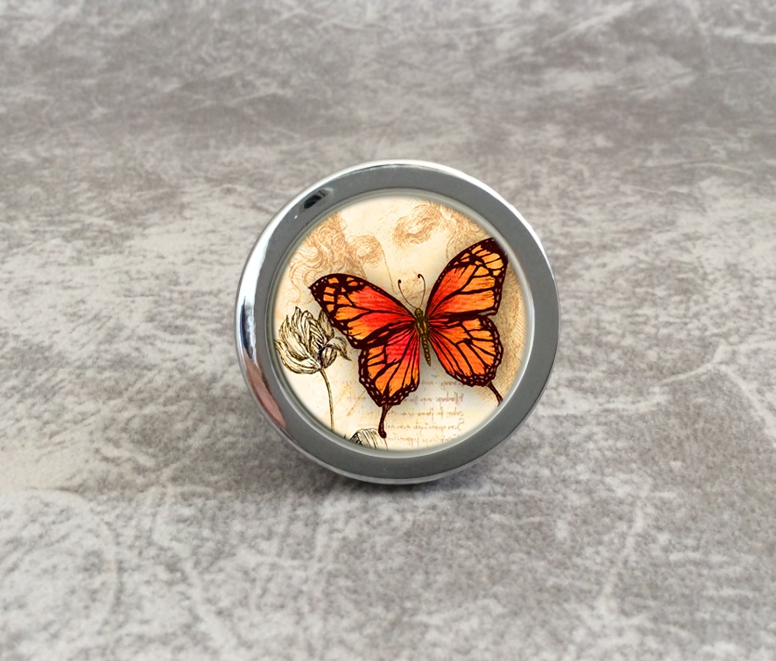 Butterfly Knobs Animal Cupboard Knobs / Handmade Drawer Knobs Dresser Pulls Handles / Kitchen Cabinet Knobs Furniture Hardware chic sunflower pewter kitchen cabinet knobs drawer dresser pulls handles cupboard closet door knob modern furniture hardware