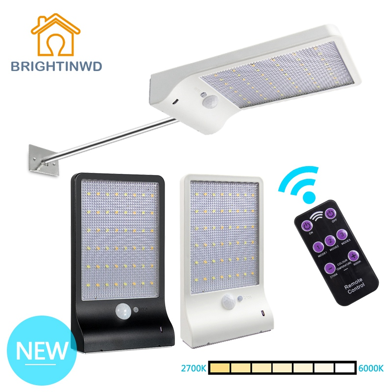 LED Solar Light 48led Cold+Warm lights PIR Motion Sensor Powered Street Lamps Garden Outdoor Ligting Waterproof Wall IP65