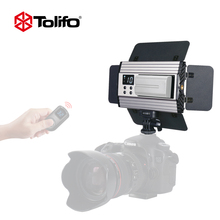 Tolifo PT-15B II Ultra Thin Light Weight 2.4G Wirelesss Remote Control Bi-color LED Video Camera Light with Barndoors for DSLR
