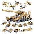 2017 blocos de construção de brinquedos kazi militar armas 16 assemblage1 super tanques compatível com a auto-travamento tijolos para crianças festa de aniversário