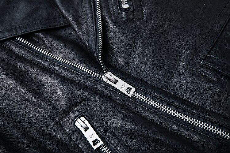 HTB1Ze.nlaAoBKNjSZSyq6yHAVXaX MAPLESTEED 100% Natural Sheepskin Tanned Leather Jacket Black Soft Men's Motocycle Jackets Motor Clothing Biker Coat Autumn M111