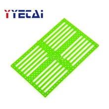 75120 Функциональная панель шасси автомобиля DIY оболочка пластина Перфорированный пластиковый лист пластиковая пластина Малый производственный материал