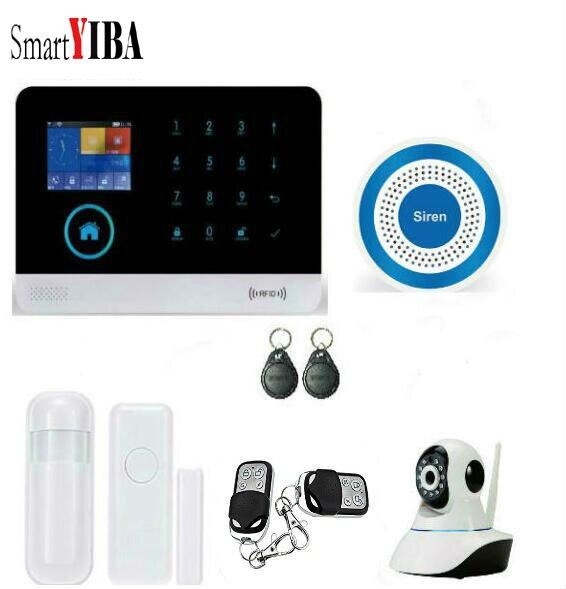 SmartYIBA WIFI APP Control Wireless GSM font b Alarm b font System WIFI Security font b