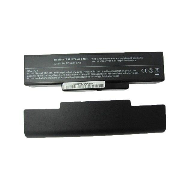 5200 МАЧ литий-ионный аккумулятор для ноутбука Asus A32-K72 A32-N71 K72 K72DR K72D K72F K72JR К73 K73E K73S K73SV N73SV X77X77VN k72-100 X77V