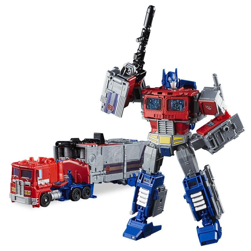 25cm Transformation OPTIMUS PRIME OPTIMUS PRIMAL RODIMUS PRIME Leader Class Leader Of The War Plastic Action Figure Toys