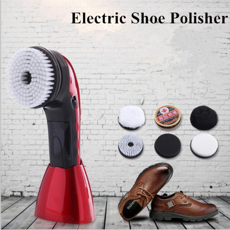 Electric Shoe Polisher Portable Mini shoe sole cleaning machine for car USB connector Automatic Efficiently polishing Tool 1pc white or green polishing paste wax polishing compounds for high lustre finishing on steels hard metals durale quality
