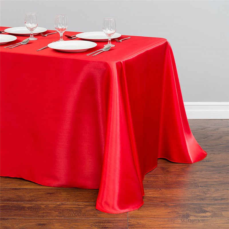Multicolored satin table cloth polyester satin table cover table overlay for wedding party banquet birthday decoration