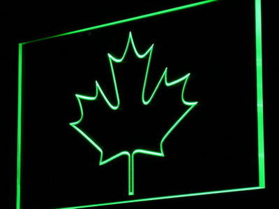i893 CANADIAN MAPLE LEAF Display Decor Light Sign On/Off Swtich 20+ Colors 5 Sizes