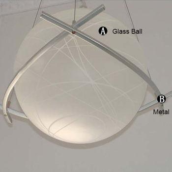 Criatividade Moderna Lâmpada Bola De Vidro Luz Pingente LEVOU E27 Loft Café Bar Sala De Estar Iluminação Avisar Branco/branco Luz