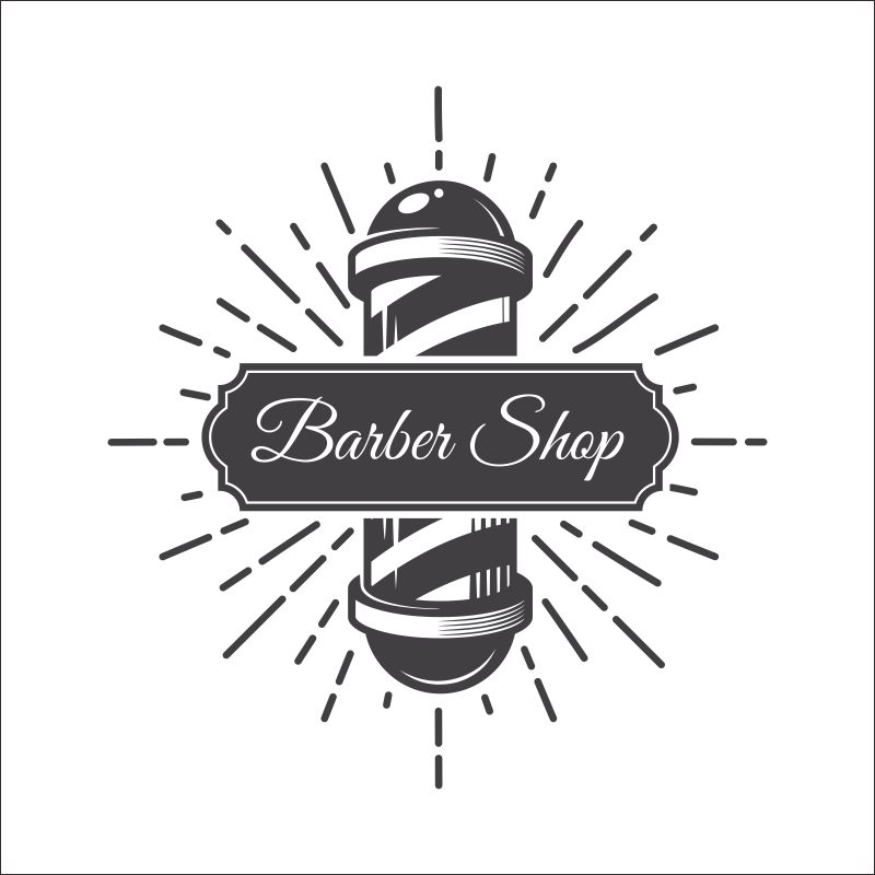 barber logo template - 800×800