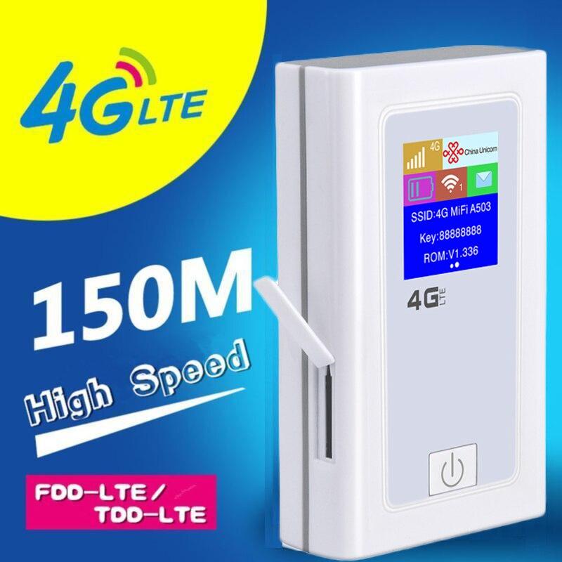 Poche wifi 5200 mah Banque De Puissance 4g LTE Mifi Routeur 150 Mbps Wifi Hotspot Mobile SIM Carte Travel Wifi routeur Carfi avec L'affichage D'affichage À CRISTAUX LIQUIDES