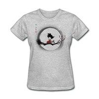 ドラゴンボール悟空tシャツ女性はヒーローと自然アニメtシャツ女の子ストリートtシャツ衣
