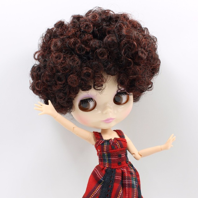 TBL Neo Blythe Doll Red Brown Curly Hair Jointed Body