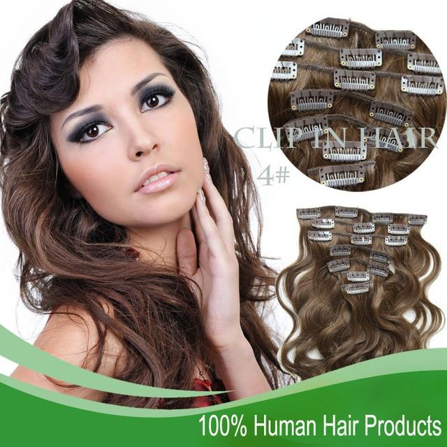 Sina Bra Zilian Clip In Hu Man Real Hair Extensions Body Wave Vir