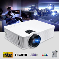 Thinyou GP 9 Projector White 3000 Lumens ISO National Standard Portable Led Projector