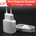 100% Genuine 5V / 1A EU Adapter for Huawei Travel Quick Charger For Huawei P6 P1 P7 X1 3C 3X ALL Phone + Cable