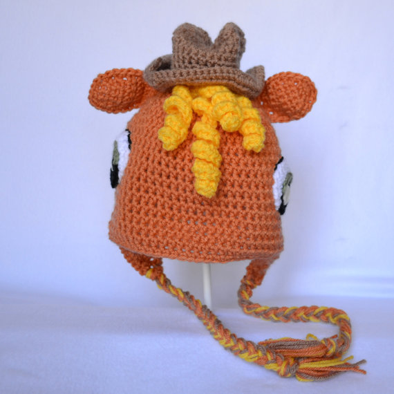 Crocheted Hat - Applejack Pony inspired