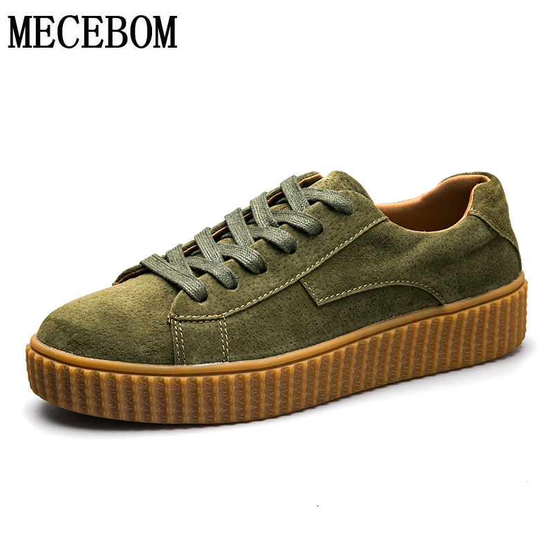 Mens shoes new arrival pig leather casual shoes comfortable lace-up flat shoes men army green footwears size 39-44 pa008m