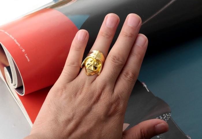 24 к позолоченные звездные войны кольцо размер 7 8 глава дарт вейдер маска шлем скелет фильм кольцо 24kgp черепа-черепа звездные войны ювелирные изделия
