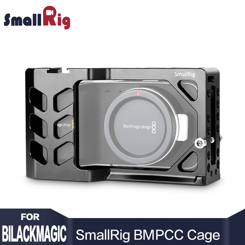 SmallRig Camera Cage for Blackmagic Pocket Cinema Camera BMPCC With Cold Shoe Mount 1/4 3/8 Thread Holes 2012 jtz dp30 cage baseplate rig top handle for bmpcc blackmagic pocket cinema camera page 6