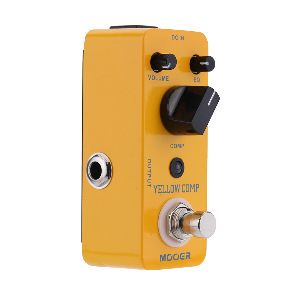 Mooer Yellow Comp Micro Mini Optical Compressor Effect Pedal for Electric Guitar True Bypass