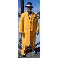 MinanSer Yellow wedding suits for groom men Jacket tuxedo Slim Fit 3 Piece suit Prom mens Suits Custom Blazer terno masculino