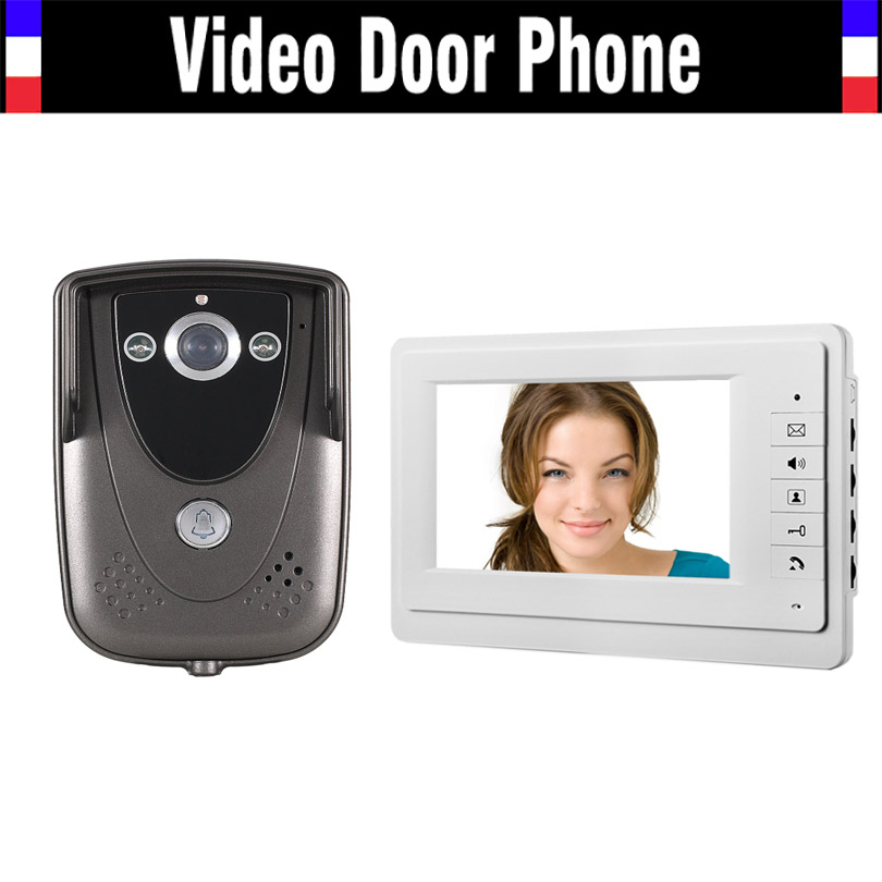 Wired 7 Inch Monitor Video Intercom Door Phone Doorbell System 900TVL IR Night Vision Camera Video Doorbell interphone Kit chic handpainted big flowers pattern voile bib scarf for women