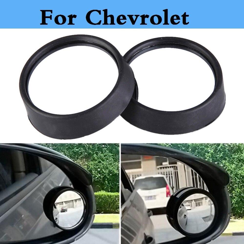 Car rearview small round mirror black silvery sticker for Chevrolet Corvette Cruze Epica Equinox Evanda HHR Impala Kalos Lacetti