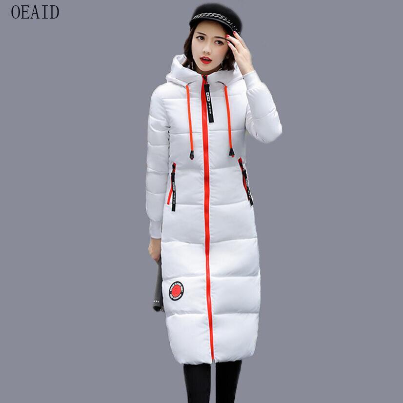 Vestes blanc Mince Manteau army Noir kaki Pour Femme Oeaid gris Green 2018 D'hiver Vert Manteaux Parka Mode Vêtements Armée Hiver rouge Femmes Long jLR45A3q