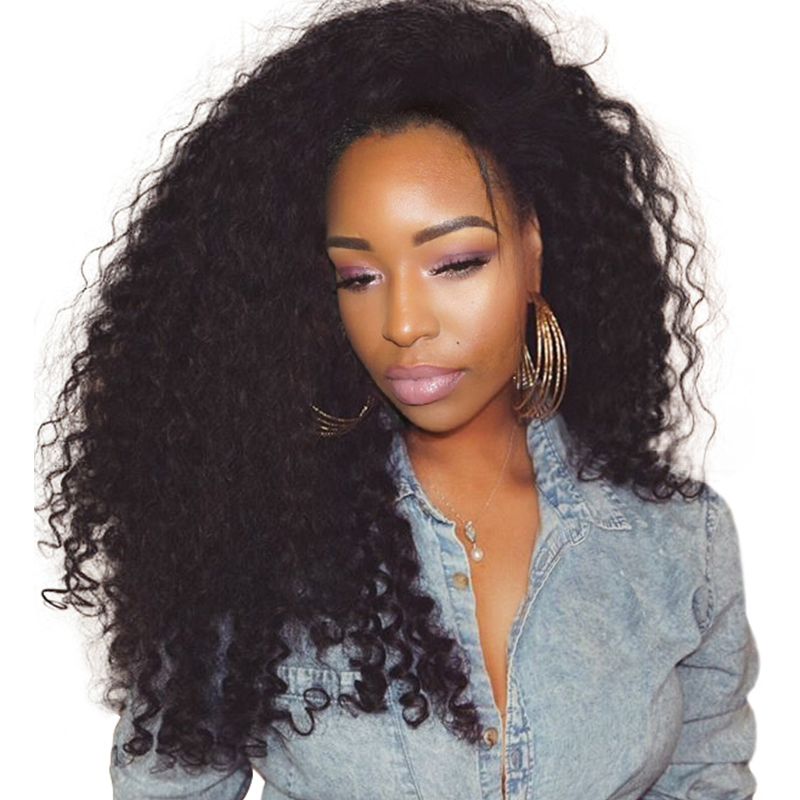 250% Density Curly Lace Front Human Hair Wigs Brazilian Curly Human Hair Wig Pre Plucked With Baby Hair Sunny Queen Remy Hair