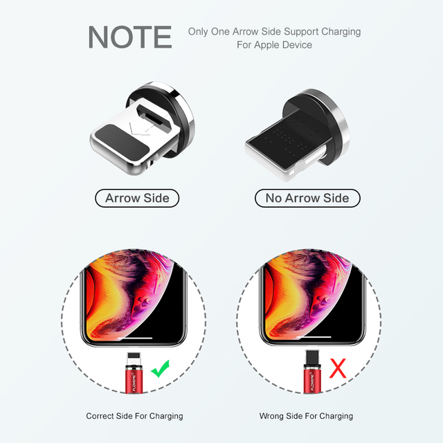 FLOVEME 1M Magnetic Charge Cable Micro USB Cable For iPhone 11 Pro Max XR Magnet Charger USB Type C Cable LED Charging Wire Cord 4