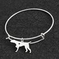 Stainless Steel DIY Silver German Shorthaired Pointer Bracelet Bangle Femme Pulseras Mujer Pet/Dog Bracelets& Bangles Jewelry