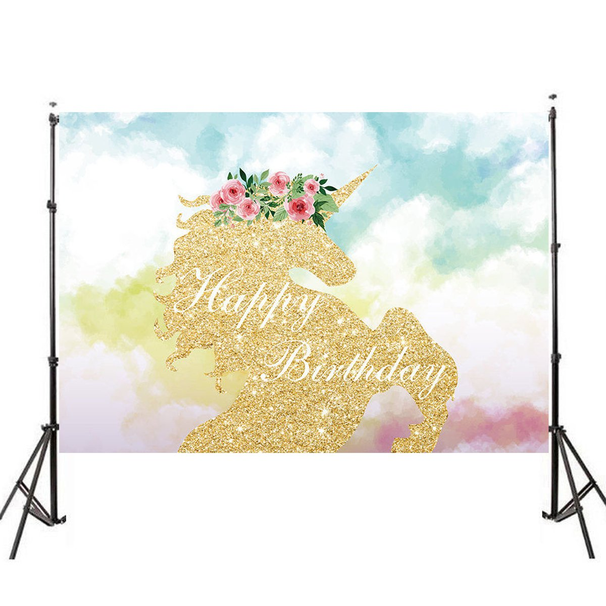 150X90cm For Unicorn Cartoon Photography Backdrop Baby Children Vinyl Photo Studio Background vinyl floral flower newborn backdrops cartoon unicorn photography background studio photo props 5x3ft