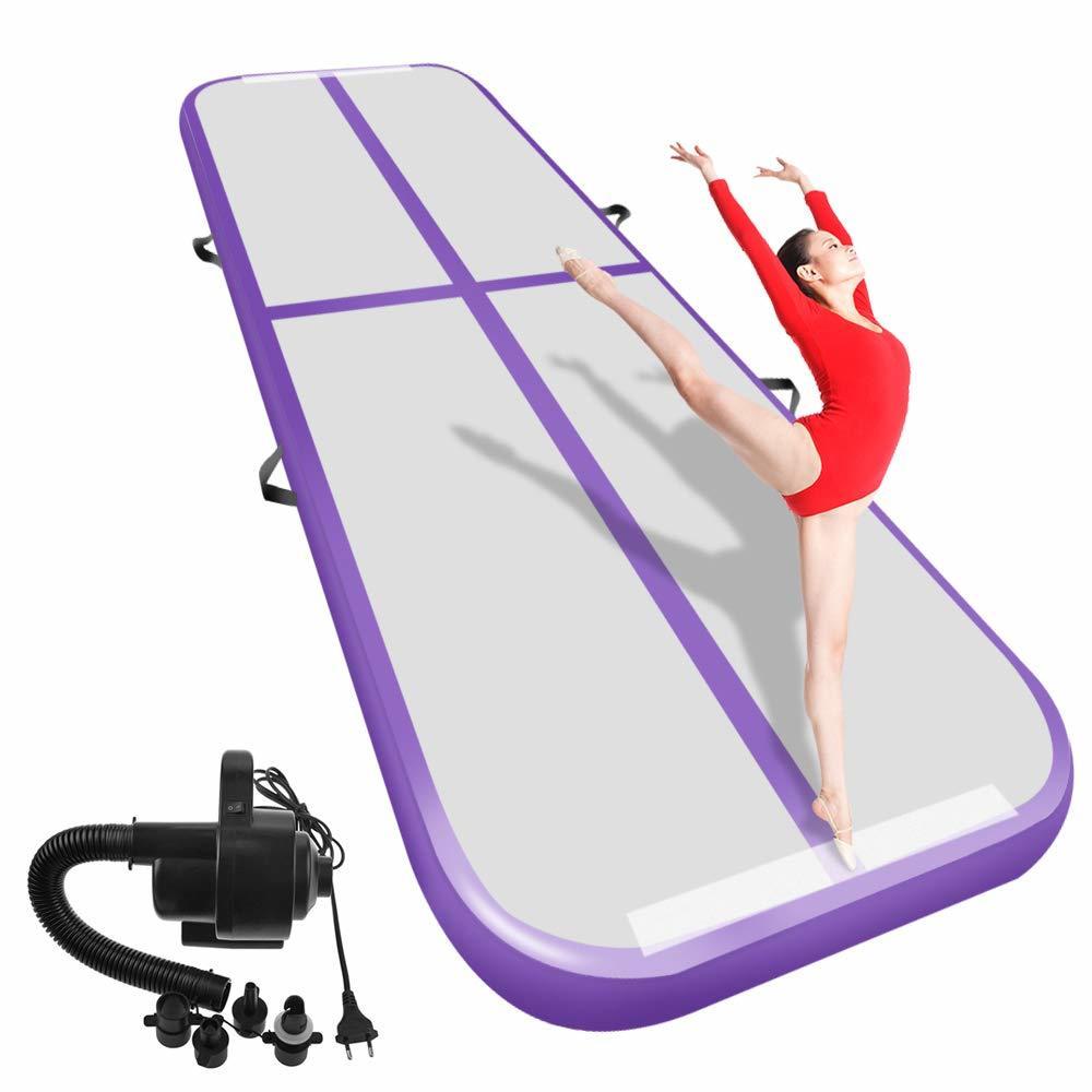 Gymnastique gonflable Airtrack culbuteur piste d'air sol 6 m 5 m Trampoline électrique pompe à Air usage domestique/entraînement/cheerleading/plage