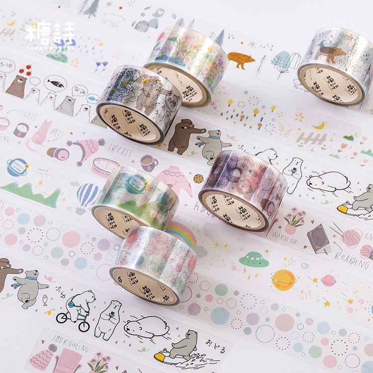 Mohamm PET 2.5cmx3m Cute Washi Tape Planet Decorative Japanese Stationery Scrapbooking Journal School Supplies
