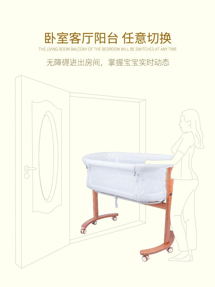 Onestar nouveau-né bébé lit de chevet lit multifonctionnel Portable épissure Bb - 4