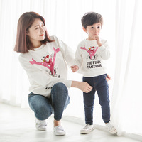 Family Matching Pajamas Sweatshirts Family Look Autumn Winter Clothes Coats Father and Son Daughter Clothes Mother Son Outfits