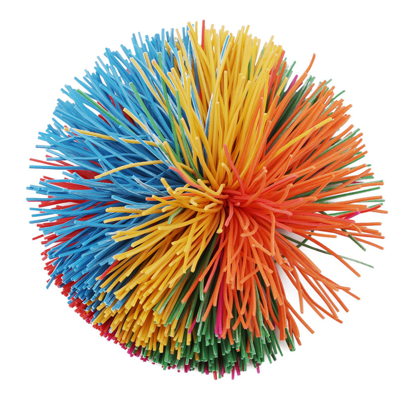 Fashion Anti-Stress Rainbow Fidget Sensory Koosh Ball Baby Funny Stretchy Ball Stress Relief Kids Autism Special Needs