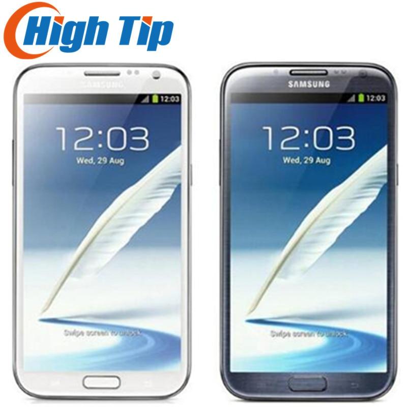 Originale per samsung Galaxy Note II 2 N7100 EU version N7105 fotocamera 8.0MP GPS Android 4.1 di WIFI del telefono Rinnovato Spedizione gratuita