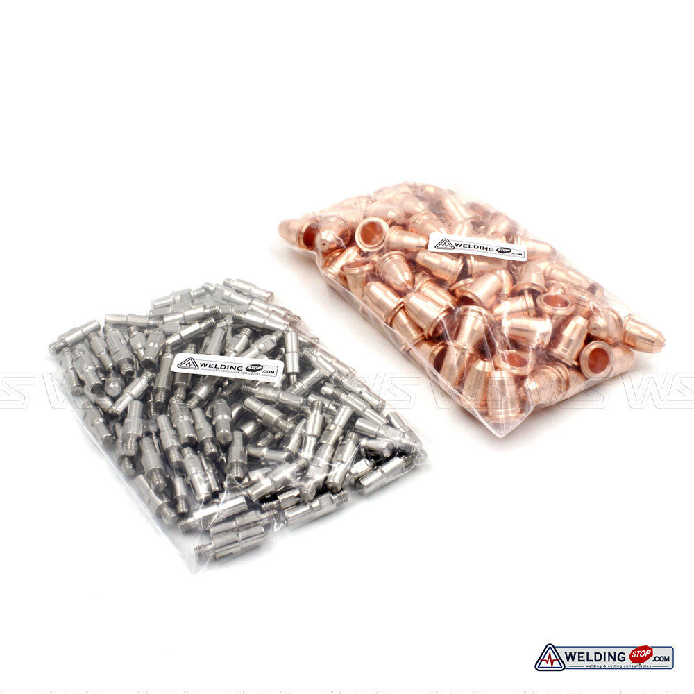 Electrodes PR0110 & Nozzle Tips PD0116-08 S25 S45 Plamsa Cutter Torch Trafimet Style 200pcs
